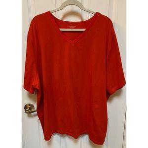 Suprema Orange V-Neck T-Shirt